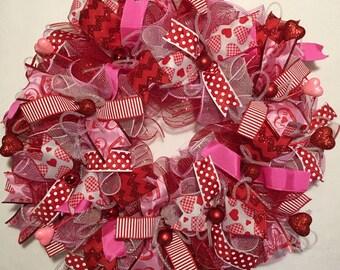 Whimsical Valentine Wreath /Valentines Wreath / Valentines Day Wreath / Valentines Wreaths/Valenitne Wreaths/Red Valentine/Heart Wreath
