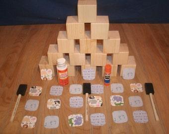 "26-2"" baby blockS, baby block kit, BOY, wood blocks, wooden blocks, unfinished wood blocks, baby blocks, baby shower blocks it"