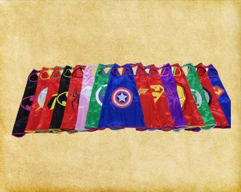 Children's Kids Superhero Capes Weddings, Parties, Favors, Stag Do Alternative