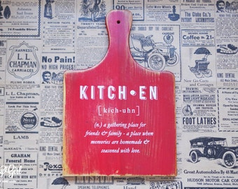 Kitchen Cutting Board Hand Pulled Screen Printed Kitchen Saying