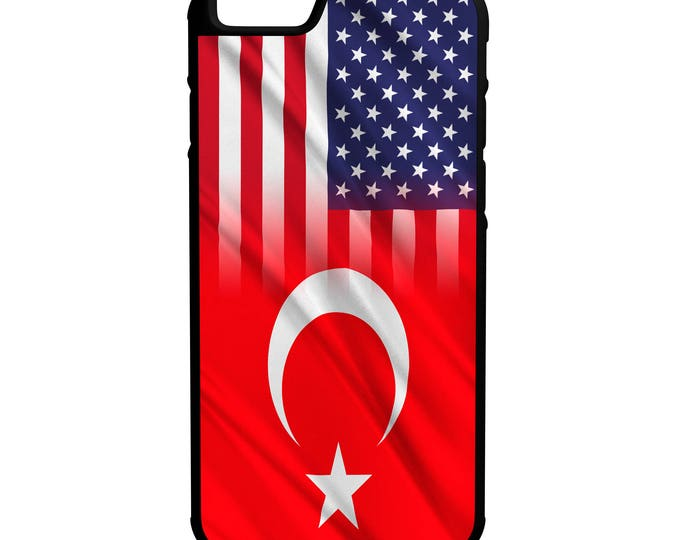 Turkey American Flag iphone Galaxy Note LG HTCHybrid Rubber Protective Case