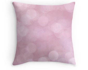 Pink Cushion, Pink Pillow, Girls Bedroom, Pink Decor, Feminine, Abstract Pillow, Pink Throw Pillow, Pastel Decor, Pale Pink, Pastel Pillow