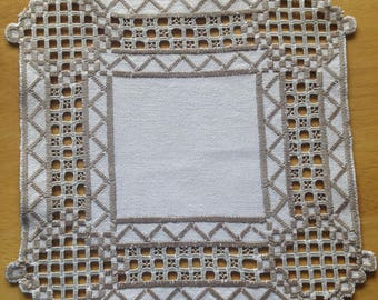 Wonderful Scandinavia very well made table cloth in Hardanger from Sweden.