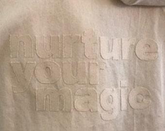 nurture your magic in this natural denim jacket