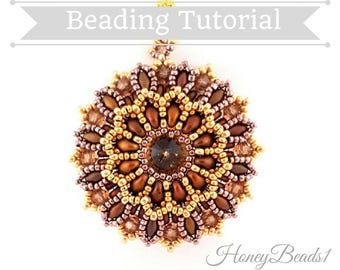 PDF-file Beading Pattern The Zianna Pendant PDF-file Beading Tutorial by HoneyBeads1