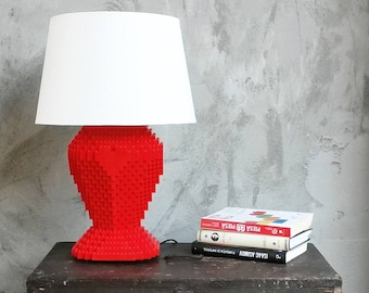 Red HeArt LEGO® Lamp