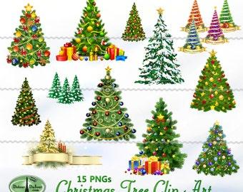 15 pngs printable christmas tree clip art digital christmas tree clipart christmas images - Christmas Tree Clip