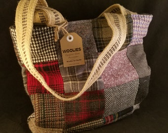 PATCHWORK  Wool Tote