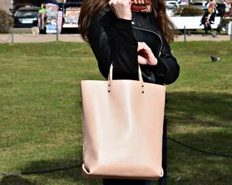 Handmade leather handbag handbags bags leather bag tote totes pink leather