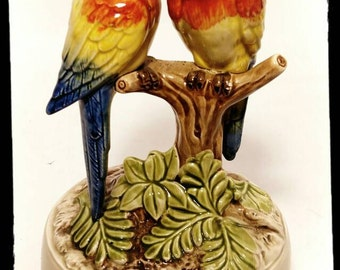 Collectible Otagiri Stranger in Paradise Parrot Music Box / Wedding Gift / Birthday Gift / F1372