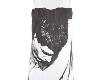Joy Division Ian Curtis White T Shirt Tank Tops Men Women M