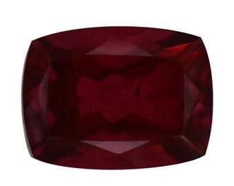 Blazing Red Triplet Quartz Loose Gemstone Cushion Cut 1A Quality 16x12mm TGW 10.25 cts.