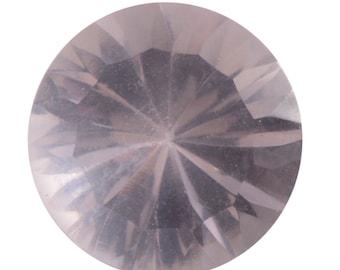 Galilea Rose Quartz Faceted Loose Gemstone Round Cut 1A Quality 9mm TGW 2.00 cts.
