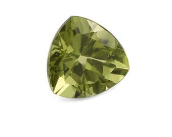 Hebei Peridot Loose Gemstone Trillion Cut 1A Quality 8mm 1.45 cts.