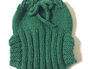 Medium Hand Knit Wool Soaker - Wool Diaper Cover - Diaper Cover - Green Wool Diaper Cover