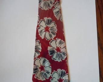 Gorgeous 1930s Satin Rayon Bold Abstract Floral Tie