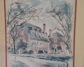 Williamsburg Print by John Haymson 1 of 3 Set available for discounted price Blaine's brick house