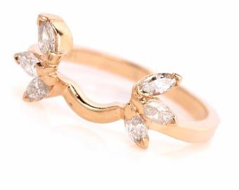 Estate Diamond 14k Wedding Band Jacket