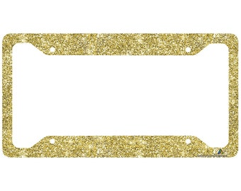 gold license plate frame glitter car tag frame gold glitter license plate holder cute license plate frame 30 740