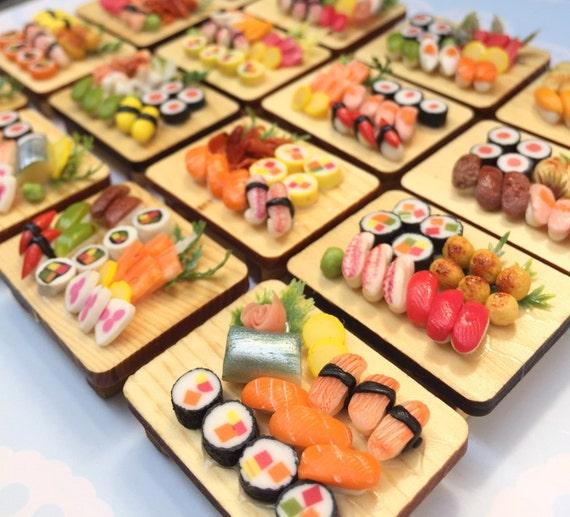 10Pcs.Miniature Japanese Sushi,Miniature Sushi Set,Miniature Japanese food,Sushi box set,Dollhouse Japanese food,wholesale food lot,gifts