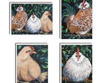 Assorted Chicken Notecards - Chicken Cards - Chicken Stationary