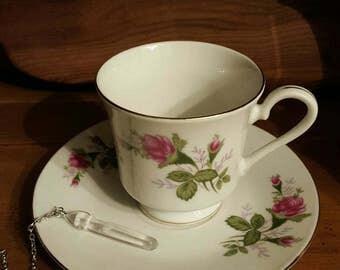 Tea Leaf Reading Kit -- Vintage Tea Cup, Pendulum, Loose Leaf Tea
