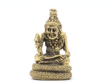 Thai amulet statue  hermit Chiwaka Komarabhat, good luck statue.