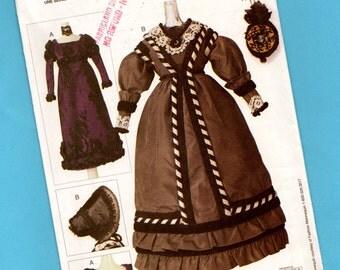 Vintage Vogue Craft Linda Carr Historical Costumes Fashion Doll Pattern 7553 Georgian & Regency Era Dresses 1820s 1830s Gowns Outfits Uncut