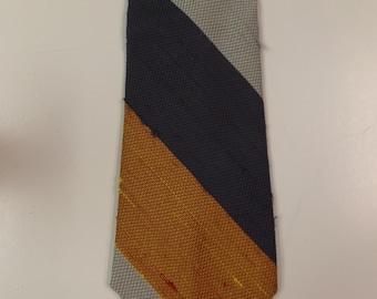 Retro Superba Faux Raw Silk Necktie