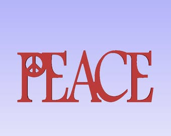 Religious words,Peace sign words,Peace wood cutout, Peace wood plaque,shabby chic sign, antiqued sign, aged sign,Peace cutout sign