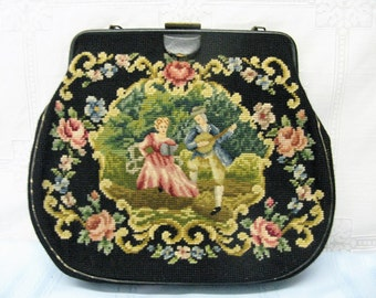 Vintage Victorian Themed Tapestry Purse