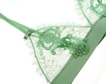 see through lingerie set-voile lace lingerie-lace bralette| erotic lingerie set | mesh lingerie| gift for girlfriend | bondoir