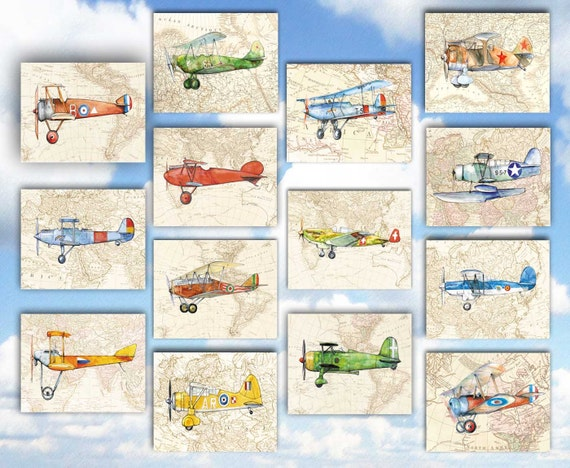 Wall Art Design Etsy Coupon Code : Off coupon on airplane old map decor set of prints