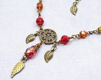 Wicca Mandala Necklace, Victorian Necklace, Renaissance Jewelry, Steampunk jewelry, Boho necklace, Boho jewelry, gift mom, Girlfriend Gift
