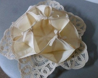 Vintage Battenburg Lace Roll Server or Jewelry Keeper