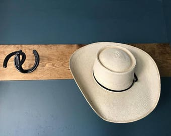 Horseshoe hat rack