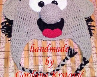 Gargamel hat,Smurfs hat,Smurfs knitting hats,gargamel,characters hat,crazy hat