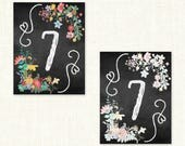 Reserved for Summer - Chalkboard Table Signs - altered colors