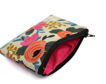 Coin Purse - Coin Bag - Change Purse - Small Cosmetic Bag - Zipper Pouch - Change Pouch - rifle paper co