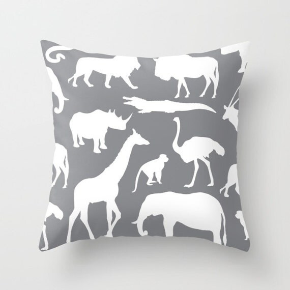 Jungle Animal Pillow : Safari Animals Pillow With Insert African Animals Pillow