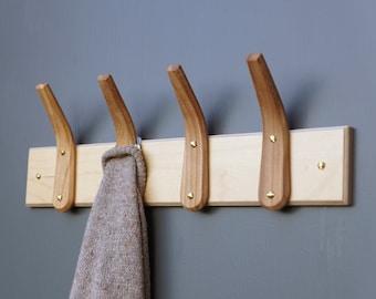 English Elm Steam Bent Hooks with Birch Plywood Backboard