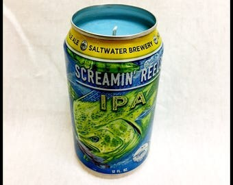 Ocean Breeze Scent Beer Can CANdle