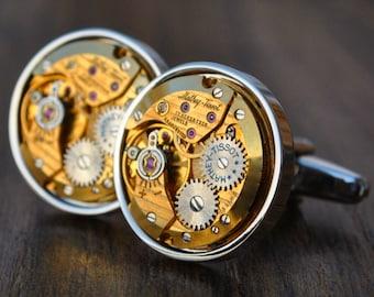 Mathey-Tissot Watch Movement Cufflinks