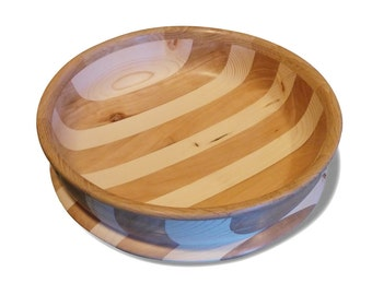 hand throwed bowl in various woods
