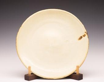 Salt Fired High-Iron Stoneware Dinner Plate - Yellow Glaze, 0432004