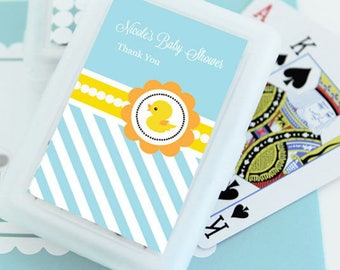 Rubber Ducky Personalized Playing Cards (Set of 24 Decks)