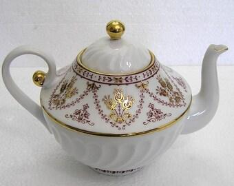Vintage  Russian Lomonosov Imperial Porcelain Tea Pot 1744