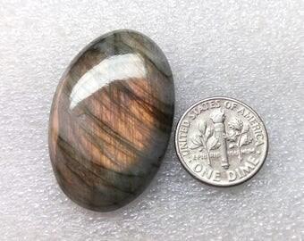 60% OFF - Loose Cabochon - Labradorite Cabochon - Spectrolite Gemstone Labradorite Cabochon 36x24x7 mm (P-120 )