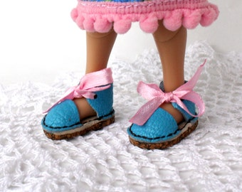 """NEW! Irrealdoll Leather Sandals - Espadrilles """"Blue Lagoon"""", and for dolls similar format"""