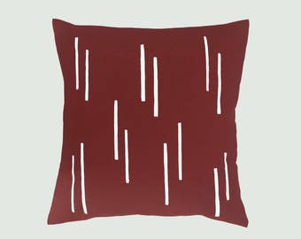 Cushion cover lines - Red Brown
